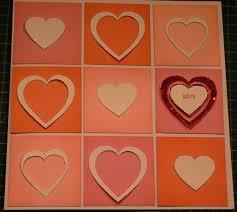 how to make a modern valentines day heart diecut card papercraft