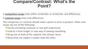 comparison and contrast essay sample pdf compare contrast essay structure ppt video online download 5 compare contrast
