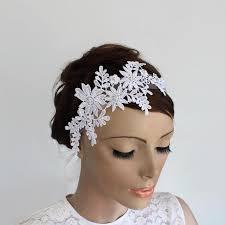 lace fascinator venetian lace applique bridal headband organza ribbon fascinator