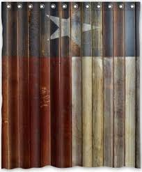 rustic texas flag star bathroom accessory set 5 pieces faux wood