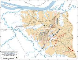 United States Civil War Map by Of The Battle Of Shiloh April 7 1862