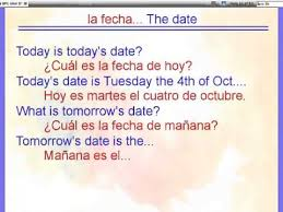 saying the date in