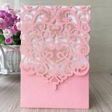 pink invitation card 2017 pocket newest baby birthday invitation card luxurious