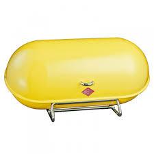 wesco space master bread bin u2013 yellow designer kitchen bread bin
