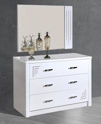 commode design chambre commode design laqué blanc et strass 3 tiroirs avec miroir luxe