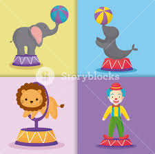clown graphics 89 clown graphics backgrounds icon set of circus animals and clown colorful squares