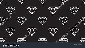 diamond icon jewelry vector seamless pattern stock vector