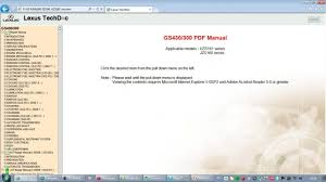 lexus gs300 gs430 jzs160 uzs161 download repair manual