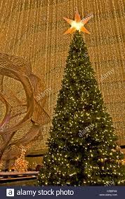 the christmas tree in the lobby of the hyatt regency hotel san