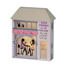 House Gift Good Friends Are Like Fine Wine Light Up House Gift All About