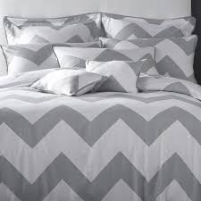 bed u0026 bedding grey white chevron nicole miller bedding for