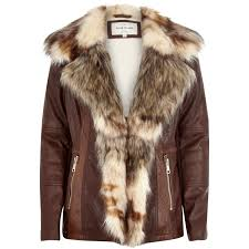leather jacket with faux fur trim cairoamani