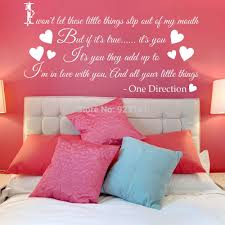 direction lyrics promotion shop for promotional direction lyrics one direction little things song wall art stickers decal home diy decoration wall mural bedroom decor wall stickers