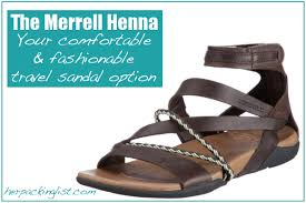Comfortable Travel Shoes The Merrell Henna Sandals Review Her Packing List
