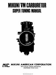 mikuni vm manual internal combustion engine carburetor