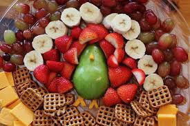 Fruit Salad For Dinner Meme - fun fruit tray cut a fresh pear in half to make the body of a
