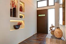 Art niche decorating ideas entry contemporary with entry bench