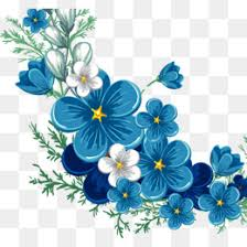 blue flowers painted blue flowers png images vectors and psd files