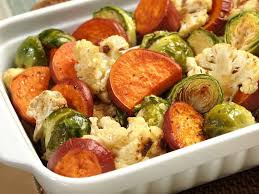 oven roasted mixed vegetables with a maple glaze vegan gluten free