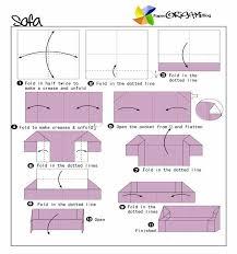 Make A Sofa by Furnitures Origami A Sofa Paper Origami Guide