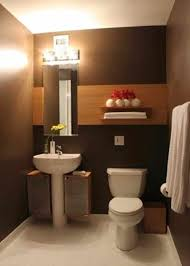 and brown coloration simple bathroom ideas brown modern small