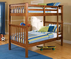 Convertible Bunk Beds Oak Finish Convertible Bunk Bed W Slats Ladder
