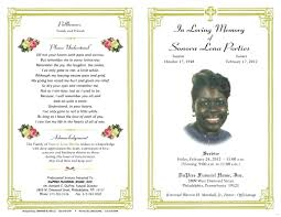 funeral programs templates free word funeral program template