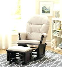 Fabric Glider Recliner With Ottoman Shermag Espresso Glider And Ottoman Combo Ottoman Glider And