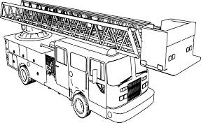 long fire truck coloring wecoloringpage