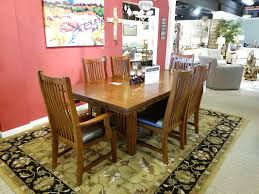 Mission Style Dining Room Table by New Arrivals Rebelle Home Furniture Store Medford Oregon