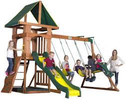 backyard playground sets wooden backyard play set in new