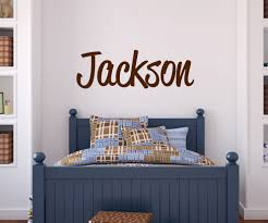 Boys Nursery Wall Decals Custom Boy Name Wall Decal Baby Boy Nursery Wall Decor