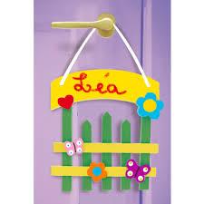 plaque pour porte de chambre plaque de porte barrière chêtre bricolage décoration tête à modeler
