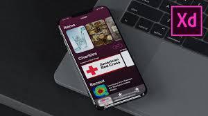 how to design an iphone x app ios adobe xd design tutorial
