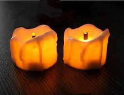 led tea lights with timer 48pcs lot flameless led tea light candle w timer burnt wick melted