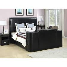 black cal king bed with tv lift