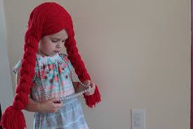 wigs for kids halloween easy peasy lemon squeezy yarn wig tutorial