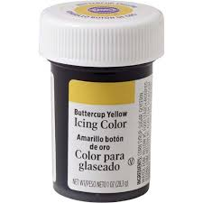 buttercup yellow gel food coloring icing color wilton