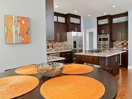 orange and brown kitchen decor long wall decor ideas romantic