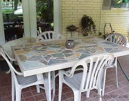 Diy Patio Table Top Diy Patio Table Top Ideas Diy Tip Used Wicker Plate