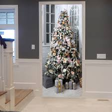 home design store and gifts 2017 christmas tree and gifts pattern door art stickers colormix
