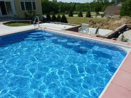 Backyard Pools Prices Vinyl Liner Pool With Custom Steel Steps And Stools Built By