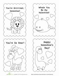 valentine card template worksheet education com