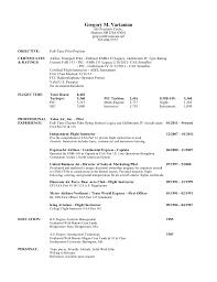Airline Resume Sample by Download Pilot Resume Haadyaooverbayresort Com