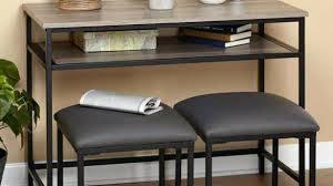 sofa table with stools underneath oak breakfast bar table wooden kitchen bar stools oak breakfast oak