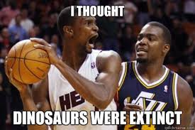 Chris Bosh Meme - chris bosh dinosaur memes quickmeme
