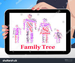 family tree meaning blood relation genealogical stock illustration