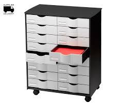 Rymans Filing Cabinet Mobile Unit 16 Drawers On Castors Filing Cabinets Storage