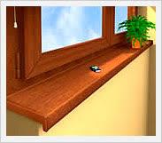 davanzali interni in legno davanzali