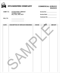 6 roofing invoice templates free sample example format